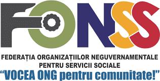 Logo Fédération des Organisations Non-Gouvernementales pour les Services Sociaux - FONSS - Emmaus Iasi Roumanie