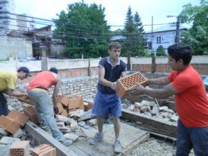 Attic construction site in Iasi - 2015 - Emmaus Iasi Romania