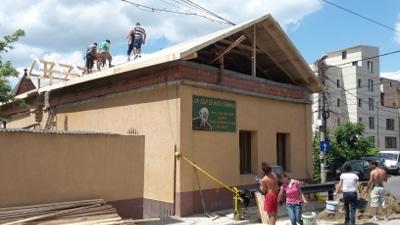 Chantier mansarde 2015 Fondation Un Coup de Main d'Emmaüs Iasi